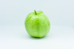 Isolated guava. Isolated one green guava, fruit Royalty Free Stock Photography