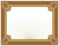 Ornate Guilloché Certificate-Diploma Design royalty free illustration
