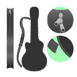 Isolated guitar case vector illustration Stock Images