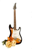 Isolated guitar with flowers Stock Photos
