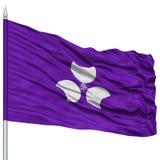Isolated Gunma Japan Prefecture Flag on Flagpole Stock Photos