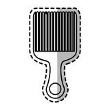 Isolated hair comb design Royalty Free Stock Photos