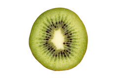 Isolated half of kiwi fruit Stock Photos