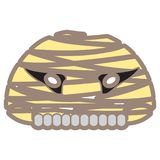 Halloween mummy mask stock illustration