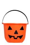 Isolated halloween pumpkin pail Stock Photography