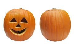 Isolated Halloween Pumpkins Royalty Free Stock Photo