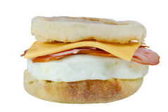 Isolated ham cheese egg sandwich Royalty Free Stock Photography