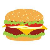 Isolated hamburger. Vector illustration of isolated hamburger royalty free illustration