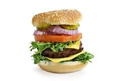 Isolated Hamburger Stock Photo