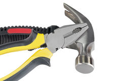 Isolated hammerand pliers Stock Image