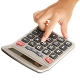 Isolated Hand with a Calculator Stock Photo