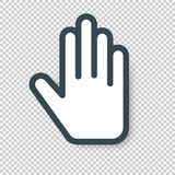 Isolated Hand Cursor Icon. Vector illustration Royalty Free Stock Photography