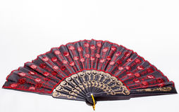 Isolated hand fan Royalty Free Stock Images
