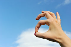 Isolated hand forming ok sign Stock Photos