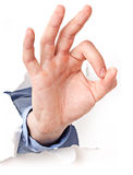 Isolated hand gestures Royalty Free Stock Photos