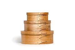 Isolated Hand Made Shaker Boxes Stock Image