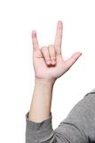 Isolated hand showing love sign Royalty Free Stock Image