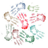Isolated hand stamps Royalty Free Stock Images