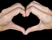 Isolated hand symbol for heart Royalty Free Stock Images