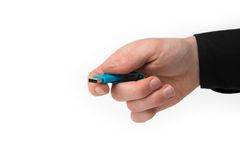 A isolated hand with a USB Stick Royalty Free Stock Photos