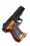 Isolated handgun. Close up on white background Royalty Free Stock Image
