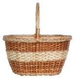 Isolated handmade wicker basket 2 Royalty Free Stock Photo