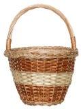 Isolated handmade wicker basket 3 Stock Photos