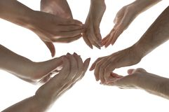 Isolated hands with clipping path. Hands Applause Stock Photo