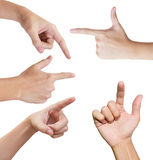 Isolated hands in variety style Stock Image