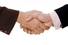 Isolated Handshake Royalty Free Stock Photography