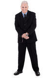 Isolated handsome mature business man standing Stock Photo
