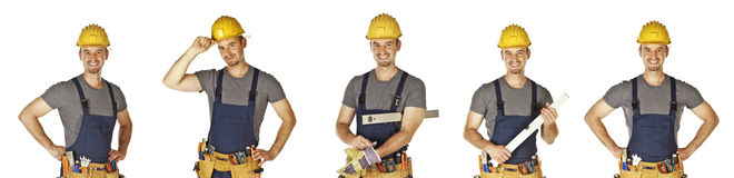 Isolated handyman collection Stock Images