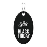 Isolated hanging tag of black friday design Stock Photography