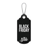 Isolated hanging tag of black friday design Royalty Free Stock Images