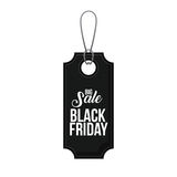 Isolated hanging tag of black friday design Stock Photos