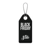 Isolated hanging tag of black friday design Stock Images