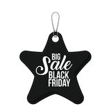 Isolated hanging tag of black friday design Royalty Free Stock Photo