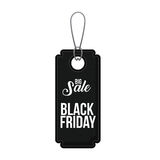Isolated hanging tag of black friday design Stock Image