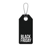 Isolated hanging tag of black friday design Royalty Free Stock Photos