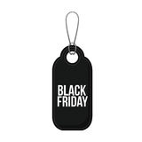Isolated hanging tag of black friday design Stock Photo