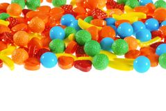 Isolated hard fruit candy Royalty Free Stock Photo