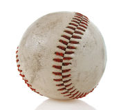 Isolated Hardball. Well used hardball isolated on a white background Royalty Free Stock Image