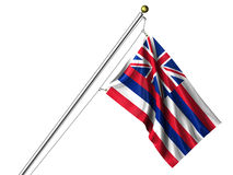 Isolated Hawaii Flag Royalty Free Stock Images