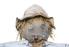 Isolated Scarecrow Head. Isolated Head Of A Scarecrow On A White Background Stock Image