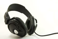 Isolated Headphones. (on white), in slight wide-angle Royalty Free Stock Photography