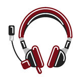 Isolated headphones on white. Royalty Free Stock Photos