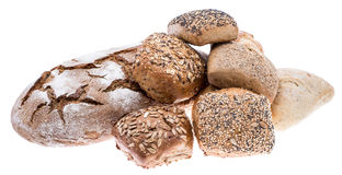 Isolated heap of bread Royalty Free Stock Photography