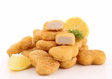 Isolated heap of nuggets Royalty Free Stock Photography