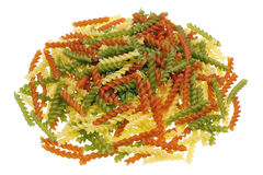 Isolated heap of pasta springs Royalty Free Stock Images
