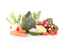 Isolated heap of vegetables Royalty Free Stock Images